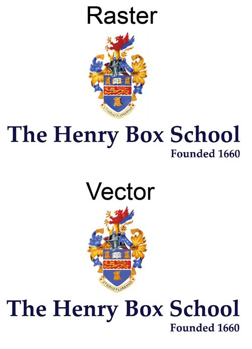 School sheild that had to be converted to a vector